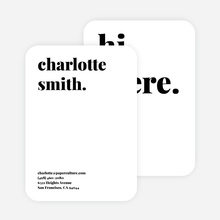 Bold & Modern Custom Stationery - Black