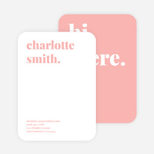 Bold & Modern Custom Stationery - Pink