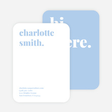 Bold & Modern Custom Stationery - Blue