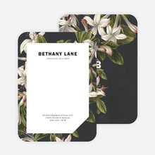 Botanical Prints Stationery - Black