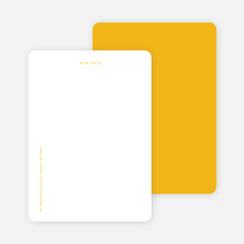 Bright & Simple Stationery - Yellow
