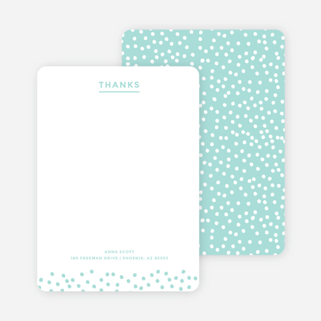 Confetti Notecards - Blue