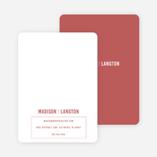 Contrast Stationery - Red
