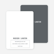 Contrast Stationery - Gray