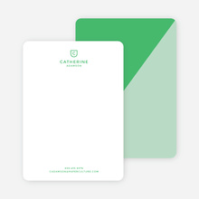 Diagonal Split Custom Stationery - Green