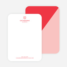 Diagonal Split Custom Stationery - Red