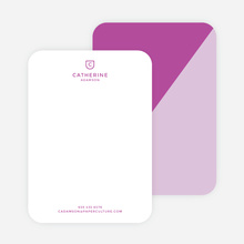 Diagonal Split Custom Stationery - Purple