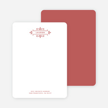 Floral Flourish Stationery - Red