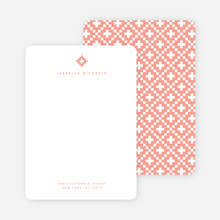 Geometric Stars Notecards - Pink