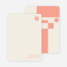 Geometry Rules Stationery - Pink