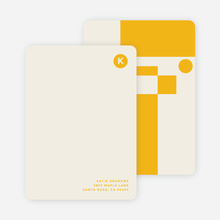 Geometry Rules Stationery - Yellow