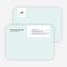 Modern Postcard Notecards - Green