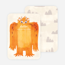 Monster Mash Thank You Cards - Orange