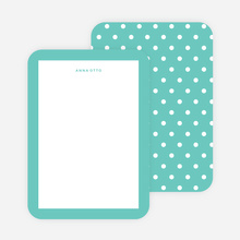 Polka Dot Love Custom Stationery - Green