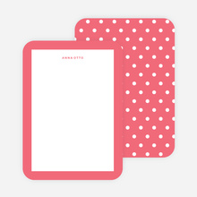 Polka Dot Love Custom Stationery - Pink