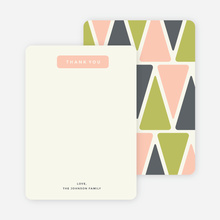 Pyramid Patterns Personal Stationery - Pink