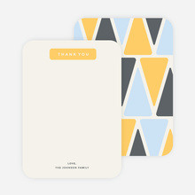 Pyramid Patterns Personal Stationery - Yellow
