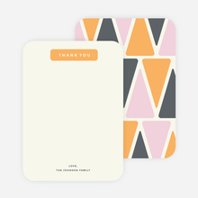 Pyramid Patterns Personal Stationery - Orange