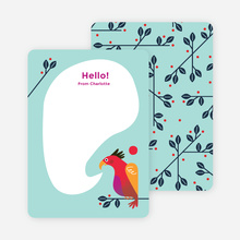 Rooster Awakening Notecards - Blue