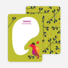 Rooster Awakening Notecards - Green