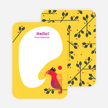 Rooster Awakening Notecards - Yellow