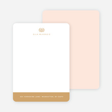 Royal Crown Custom Stationery - Pink
