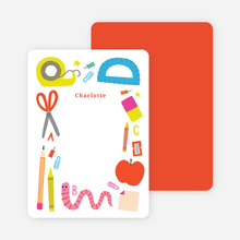School Supplies Stationery - Red