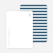 Simple Stripes Personalized Stationery - Blue