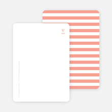 Simple Stripes Personalized Stationery - Pink