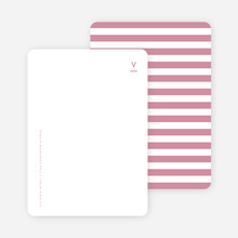 Simple Stripes Personalized Stationery - Purple