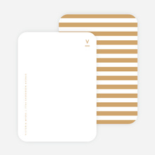 Simple Stripes Personalized Stationery - Yellow