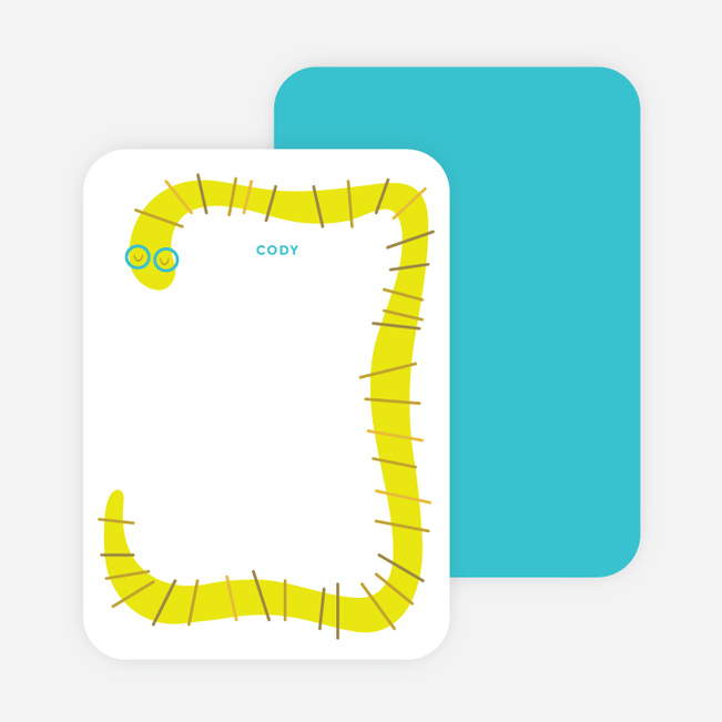 Slithering Notecards - Green