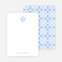Tile Pattern Stationery - Blue
