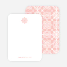 Tile Pattern Stationery - Pink