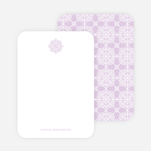 Tile Pattern Stationery - Purple