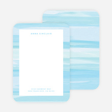 Watercolor Bliss Custom Stationery - Blue