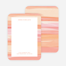 Watercolor Bliss Custom Stationery - Pink