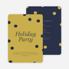 Confetti Holiday Party Invitations - Blue