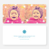 Fluttering Snowflake Holiday Photo Cards - Blue