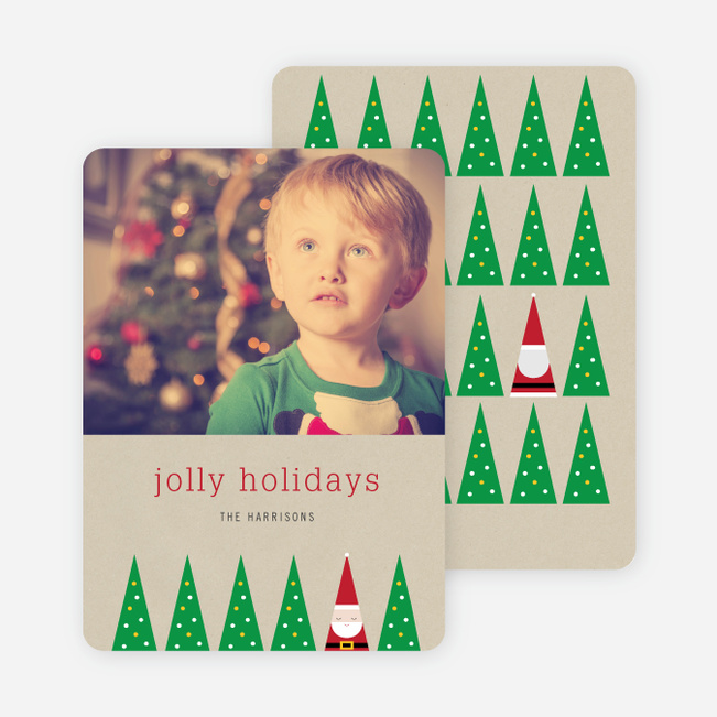 Santa's Everywhere Christmas Cards - Red
