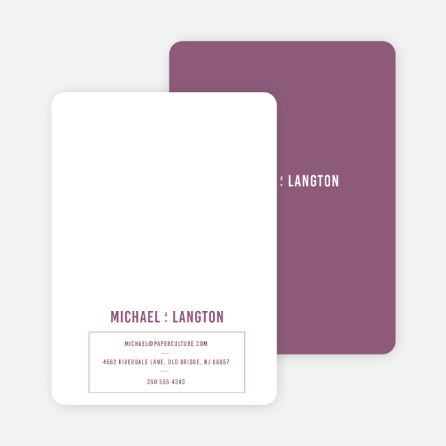 Contrast Stationery - Purple