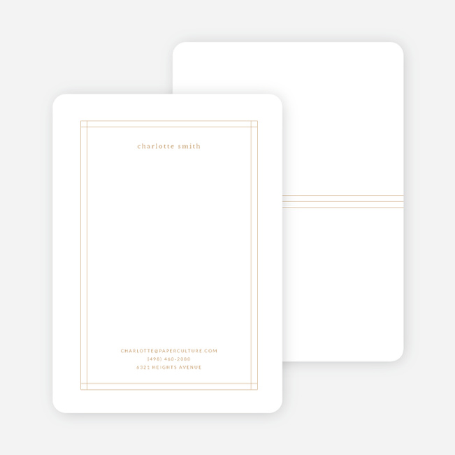 Elegant Lines Stationery - Yellow