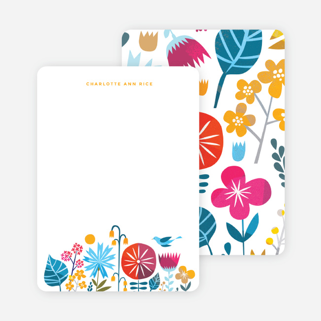 Floral This Stationery - Yellow