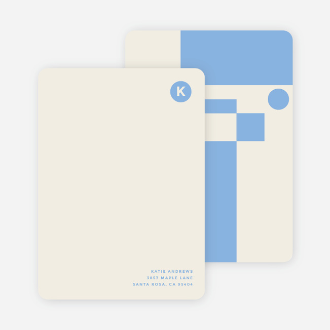 Geometry Rules Stationery - Blue