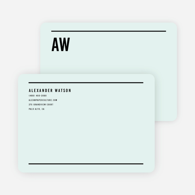 Modern Line Stationery - Green
