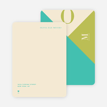 Monogram Madness Personal Stationery - Green