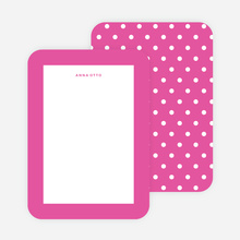 Polka Dot Love Custom Stationery - Purple