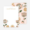 Retro Floral Stationery - Pink