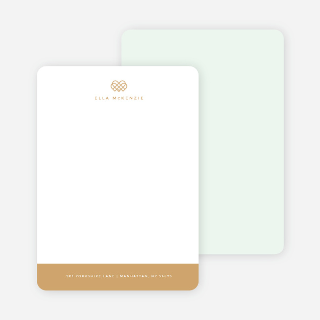 Royal Crown Custom Stationery - Green