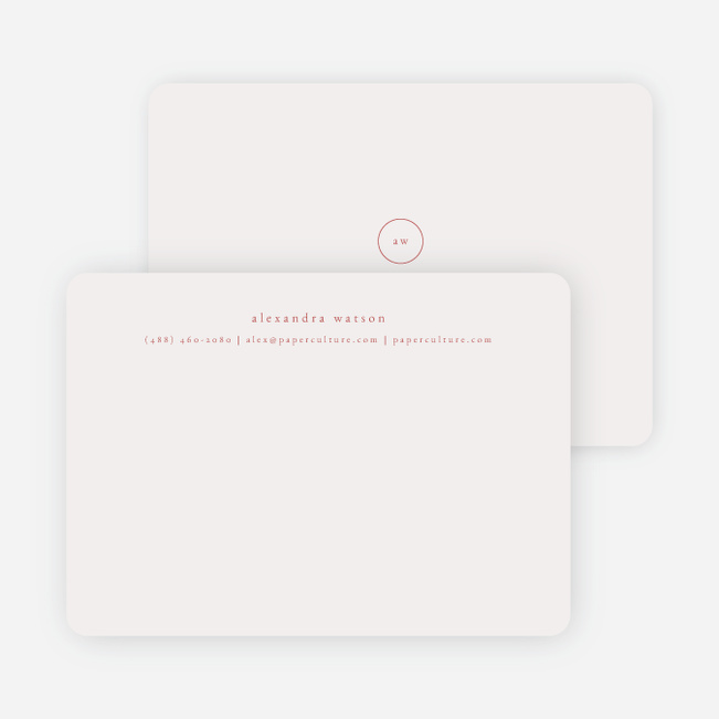 Simple & Elegant Stationery - Red